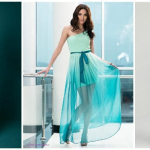 Бірюзове весільне плаття і фата: фото та ідеї моделей