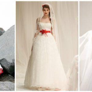 Весільну сукню з червоним поясом: фото та ідеї моделей