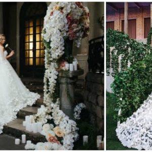 Весільну сукню з метеликами: ідеї моделей і фото