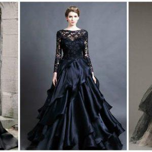 Чорне весільне плаття: фото та ідеї фасонів