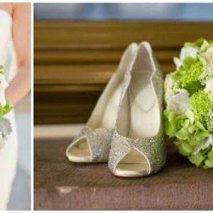 Біло-зелений весільний букет: фото та варіанти оформлення