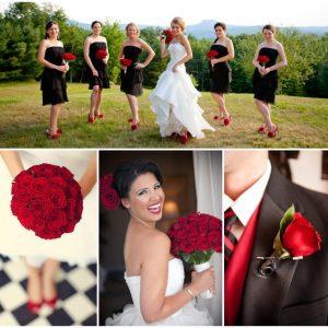 Весільний букет з червоних троянд: фото та символіка