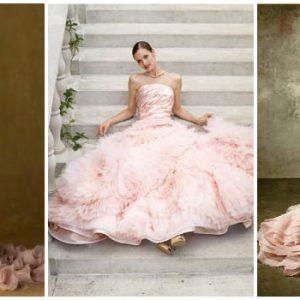 Рожеве весільне плаття: фото та ідеї фасонів