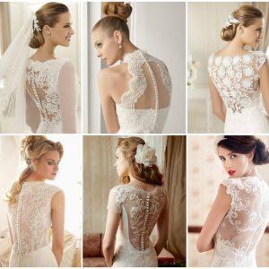 Весільні сукні з мереживною спиною: фото та варіанти моделей