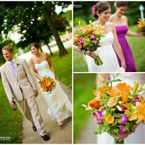 Помаранчевий букет нареченої: фото та варіанти оформлення