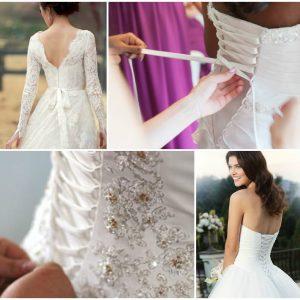 Як правильно зашнурувати корсет на весільній сукні