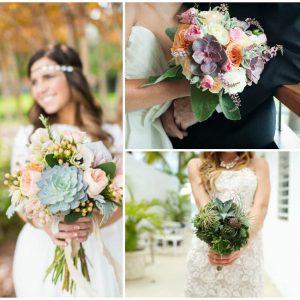 Букет нареченої з суккулентами: фото та ідеї оформлення