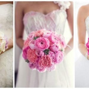 Рожевий букет нареченої: його значення та варіанти квіткових композицій