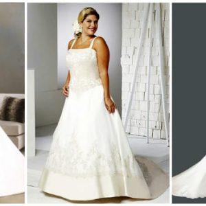 Весільні сукні для повних дівчат: фото та ідеї фасонів