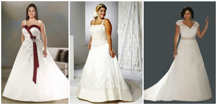 Весільні сукні для повних дівчат  фото та ідеї фасонів  ef63ef2d583eb