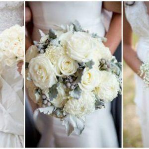 Весільний букет з білих троянд: фото та варіанти оформлення