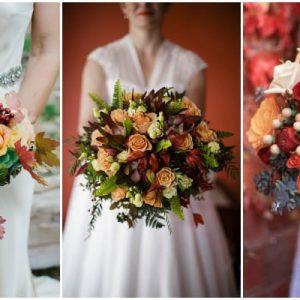 Осінній букет нареченої: фото та ідеї оформлення