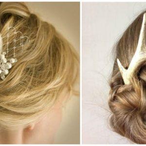 Весільні зачіски з гребенем: фото та ідеї