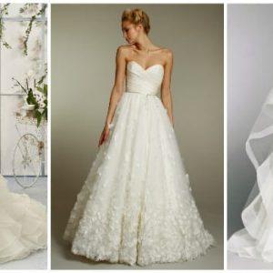Весільні сукні а-силуету: особливості фасону та варіанти моделей