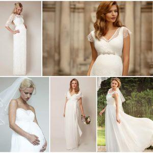 Весільні сукні для вагітних наречених: фото та ідеї нарядів