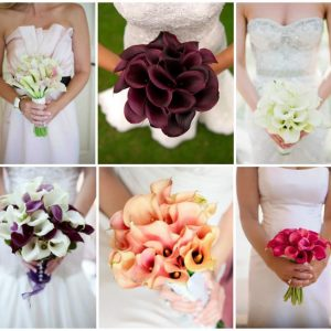 Весільний букет з калл: ідеї квіткових композицій