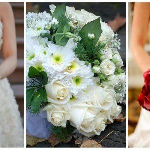 Весільний букет хризантем: фото і варіанти композицій