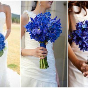 Синій букет нареченої: фото і варіанти складання