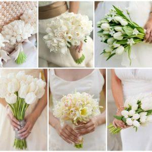 Весільний букет з тюльпанів: варіанти квіткових композицій