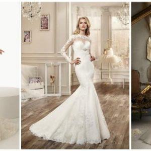 Весільна сукня рибка: особливості фасону і фото