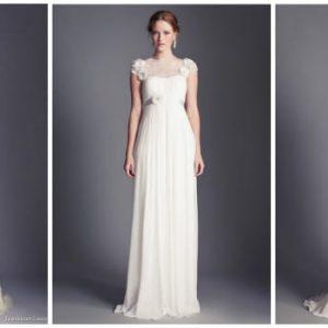 Весільне плаття в стилі ампір: фото та ідеї фасонів