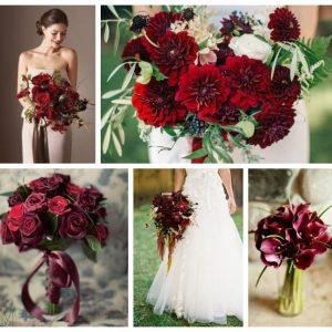 Букет нареченої в кольорі марсала: фото та ідеї оформлення
