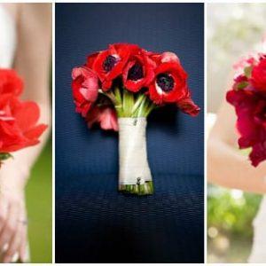 Червоний весільний букет: фото для натхнення