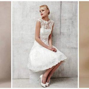 Короткі мереживні весільні сукні: фото та ідеї нарядів