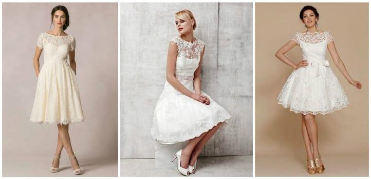 Короткі мереживні весільні сукні  фото та ідеї нарядів  b257020f8d535