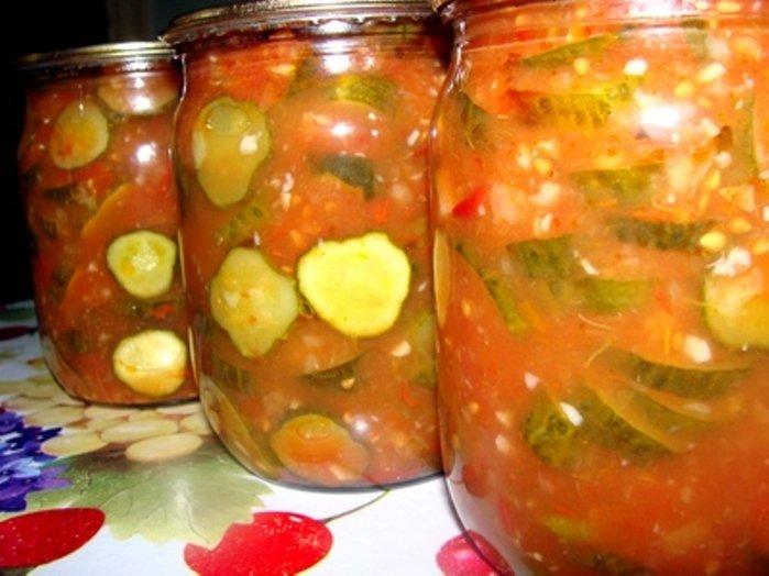 Салаты из помидоров огурцов и перца на зиму рецепты 18