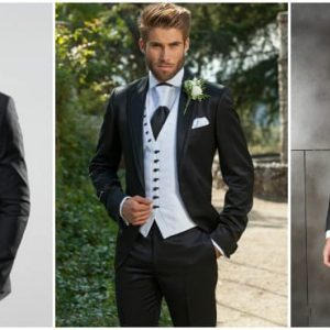 Чорний весільний костюм для нареченого: фото та особливості вибору