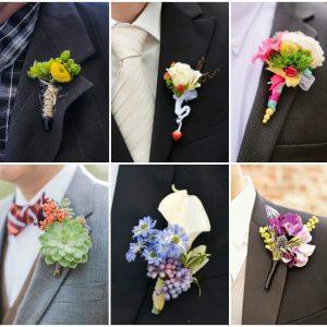Як зробити бутоньєрку з живих квітів для нареченого
