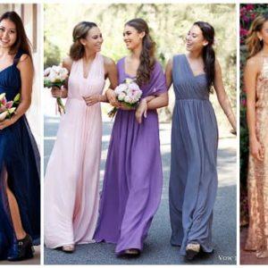 Сукні для подружок нареченої: фото і варіанти фасонів