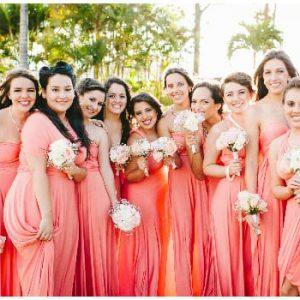 Персикове плаття подружки нареченої: фото та варіанти моделей