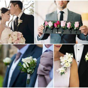 Бутоньєрка троянди для нареченого: фото та ідеї