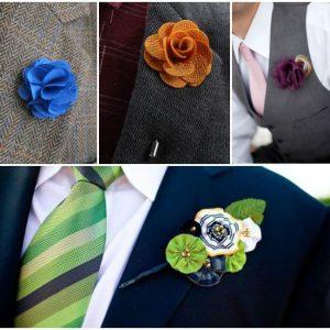 Бутоньєрка для нареченого із залишків тканини: фото та ідеї аксесуарів