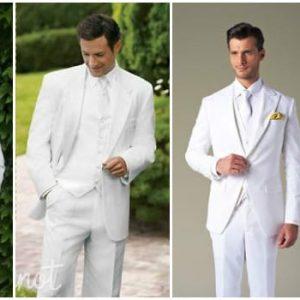 Вибираємо білий костюм на весілля для нареченого