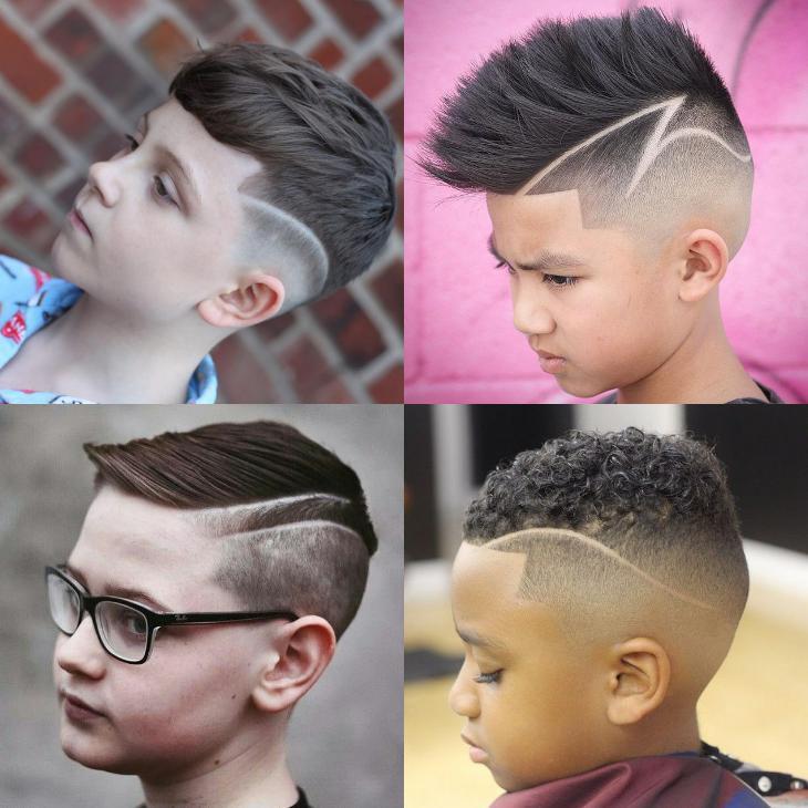 Как сделать мальчику модную стрижку 639