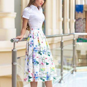 Модні спідниці дзвін: фасони, новинки, фото ідеї з чим носити