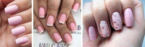 Серый розовый ногти дизайн фото