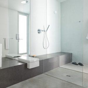 Дизайн ванної кімнати з душовою кабіною, фото інтер'єрів