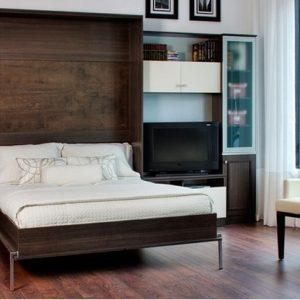 Ліжка трансформери ІКЕА, фото вбудованої в шафу меблів