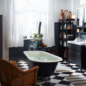 Ванна кімната від ІКЕА, фото меблів в інтер'єрі ванної